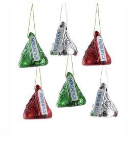 Kurt Adler Miniature Hershey Kisses 1 Inch Ornaments Set Of 6 Assorted