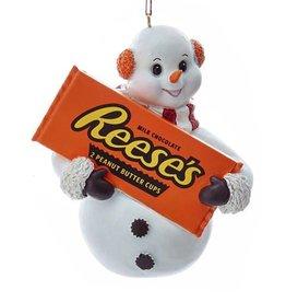Kurt Adler Hershey Snowman Ornament W Reeses Peanut Butter Cups