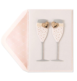 PAPYRUS® Wedding Card Lesbian Mrs and Mrs Champagne Flutes