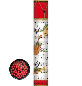 Caspari Christmas Fireplace Matches 11 Inch Long 50Pk Music Concert Round Matchbox Set