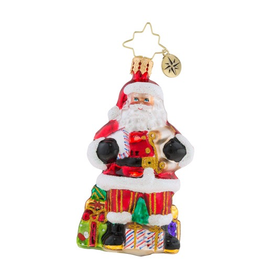 Christopher Radko Little Gem Checking it Twice Santa Christmas Ornament
