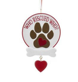Kurt Adler Rescue Dog Ornament Who Rescued Who?