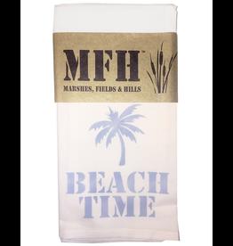 MFH Cotton Tea Towel-20x29 w Beach Time-Sky