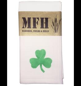 MFH Cotton Cloth Napkin 20x20 w Shamrock Irish Clover