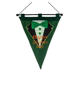 Midwest-CBK Irish-St Patricks Day Flag Embroidered w Happy St Patricks Day