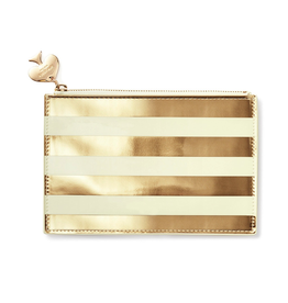 Kate Spade New York Pencil Pouch Pencils Kit Gold Stripe | Kate Spade