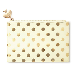 Kate Spade New York Pencil Pouch Pencils Kit Gold Dots | Kate Spade