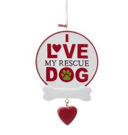 Kurt Adler Rescue Dog Ornament A Rescue Dog Is My Best Friend
