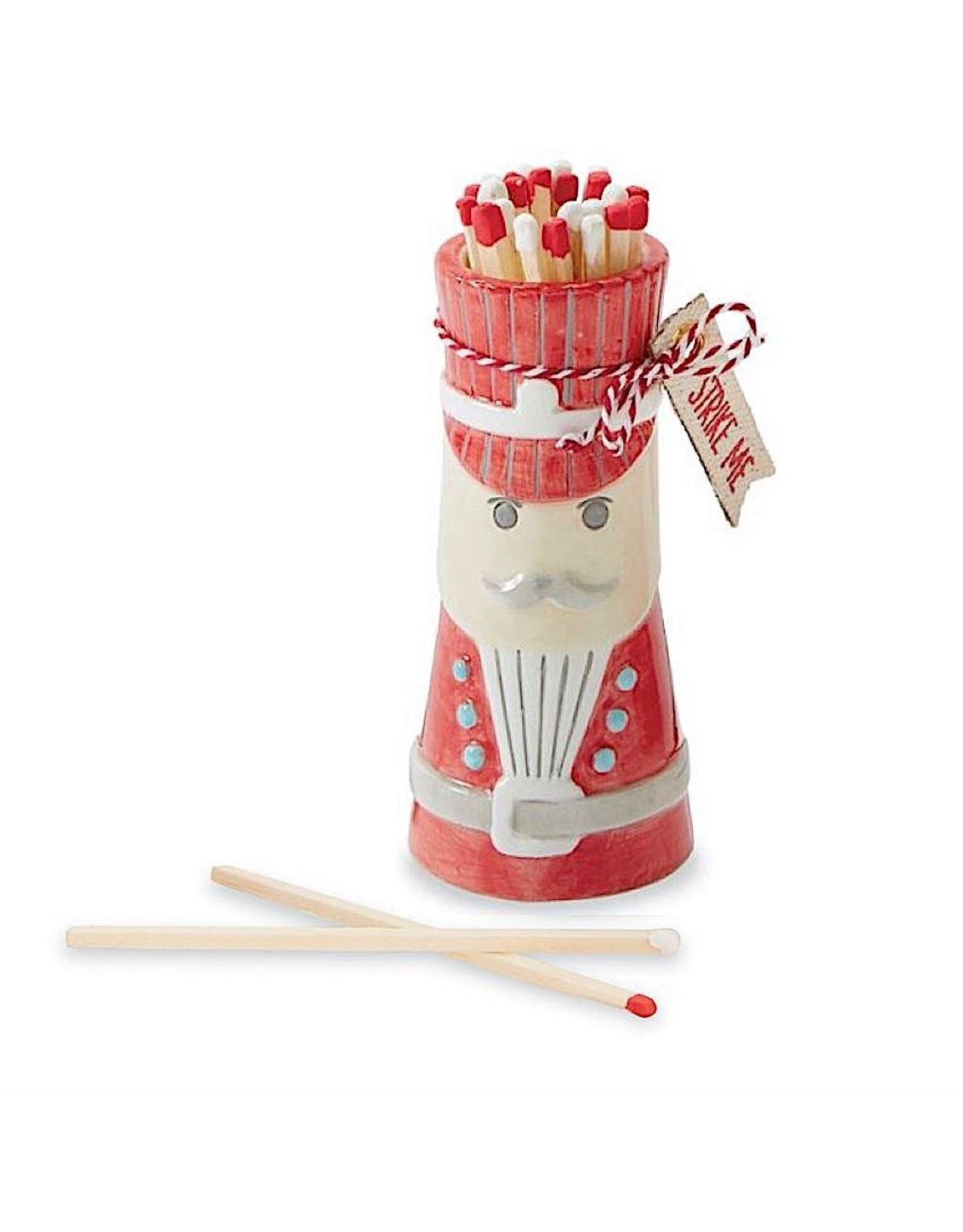 Mud Pie Christmas Matches Gift Set Ceramic Nutcracker W Matchsticks