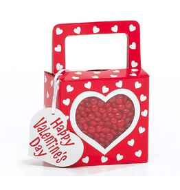 Burton and Burton White Hearts on Red Candy Gift Box