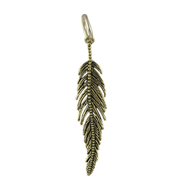 Waxing Poetic® Jewelry Light as a Feather Pendant Brass