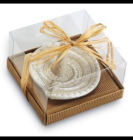 Mud Pie Nautilus Ceramic Ring Holder w Faux Sand Glaze