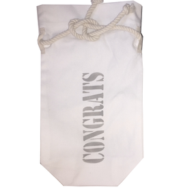 MFH Cotton Wine Bag With Congrats in Drian Grey