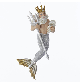 Kurt Adler Neptune Sea King Merman Christmas Ornament