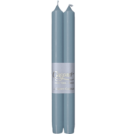 Caspari Crown Candles Tapers 10 inch 2pk Stone Blue
