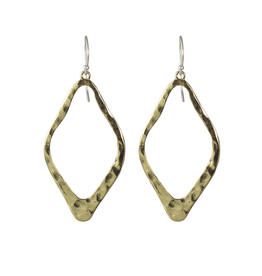 Waxing Poetic® Jewelry Open Up Earrings Diamond Shaped Brass