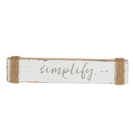 Mud Pie Wood Sea Sentiment 2x10 Stick w Simplify