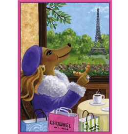 Caspari Mother's Day Card Parisian Pooch You Deserve The Very Best