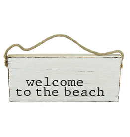 Mud Pie Beach Sign Door Hanger w Welcome to the Beach