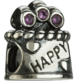 Chamilia Charm Happy Birthday Silver Bead JA-22 Happy Birthday
