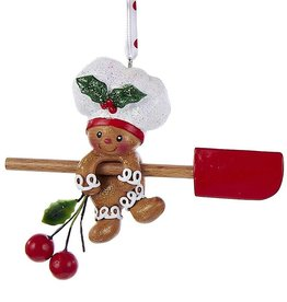 Kurt Adler Gingerbread Chef Boy Utensil Ornament Climbing Spatula