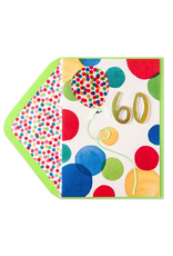 PAPYRUS® Birthday Card 60th Bright Dots