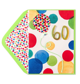 PAPYRUS® Birthday Card 60th Bright Dots