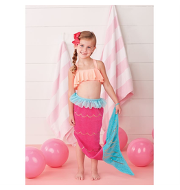 Mud Pie Childrens Mermaid Tail Towel One Size 3T and up
