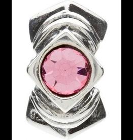Chamilia Diamond Shape Sterling Silver w Stone JB-5C Pink