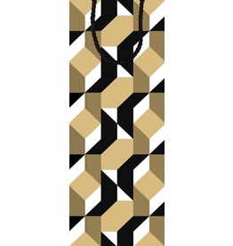 Caspari Wine Bottle Tote Bag Color Theory 8997B4   Caspari