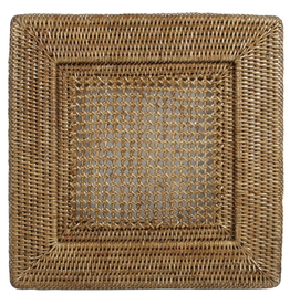 Caspari Rattan Chargers 12 Inch Square Plate Charger