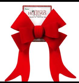 Darice Christmas Bow Red Velvet PVC Bow 10 Inch