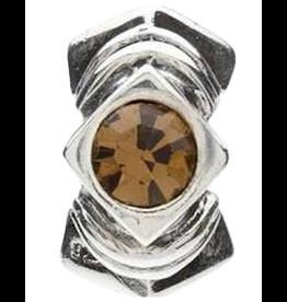 Chamilia Diamond Shape Sterling Silver w Stone JB-5D Topaz