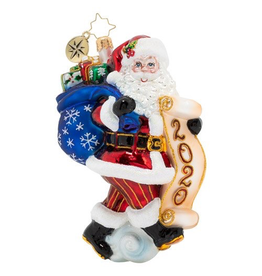 Christopher Radko Santa Saves The Date 2020 Christmas Ornament