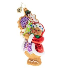 Christopher Radko The Gingerbread Man Can Christmas Ornament