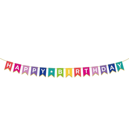 Happy Birthday Rainbow Party Banner 72 inch