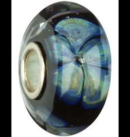 Chamilia Charm Murano Glass Bead OB-107 Midnight Blooms