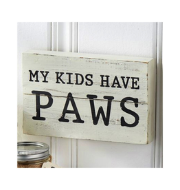 Mud Pie My Kids Have Paws Plaque 5x8 4265227K Mud Pie Pet Gifts