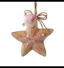 Kurt Adler Starfish w Shell Christmas Ornament D2715-SF