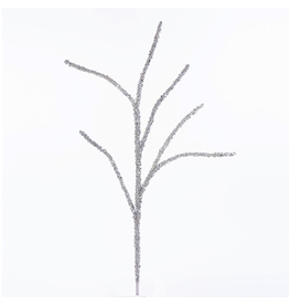 Kurt Adler Silver Twig Glittered Branch 32in C0395 Christmas Floral