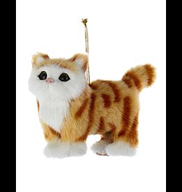 Kurt Adler Christmas Ornament Plush Cat Orange Brown Tabby 4 inch