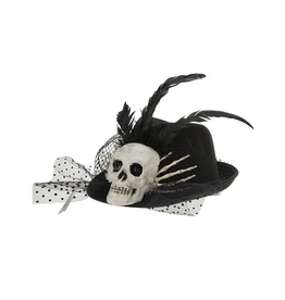Mark Roberts Fairies Halloween Hat Skeleton Cowboy Fedora - A