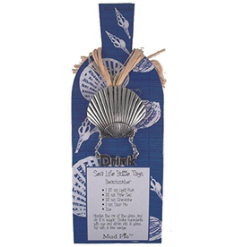 Mud Pie Sealife Wine Bottle Tag - Shell