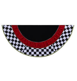 Kurt Adler Christmas Tree Skirt Red Black and White Checkered 52 inch