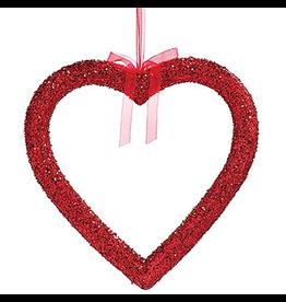 Burton and Burton Large Hanging Red Glittered Heart 20x20 inch
