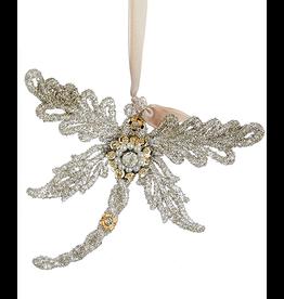 Kurt Adler Vintage Glamour Beads Gems Glittered Dragonfly Ornament TL