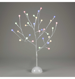 Kurt Adler White Twig Gum-ball Tree 2FT Multi Color LED Twinkle Lights