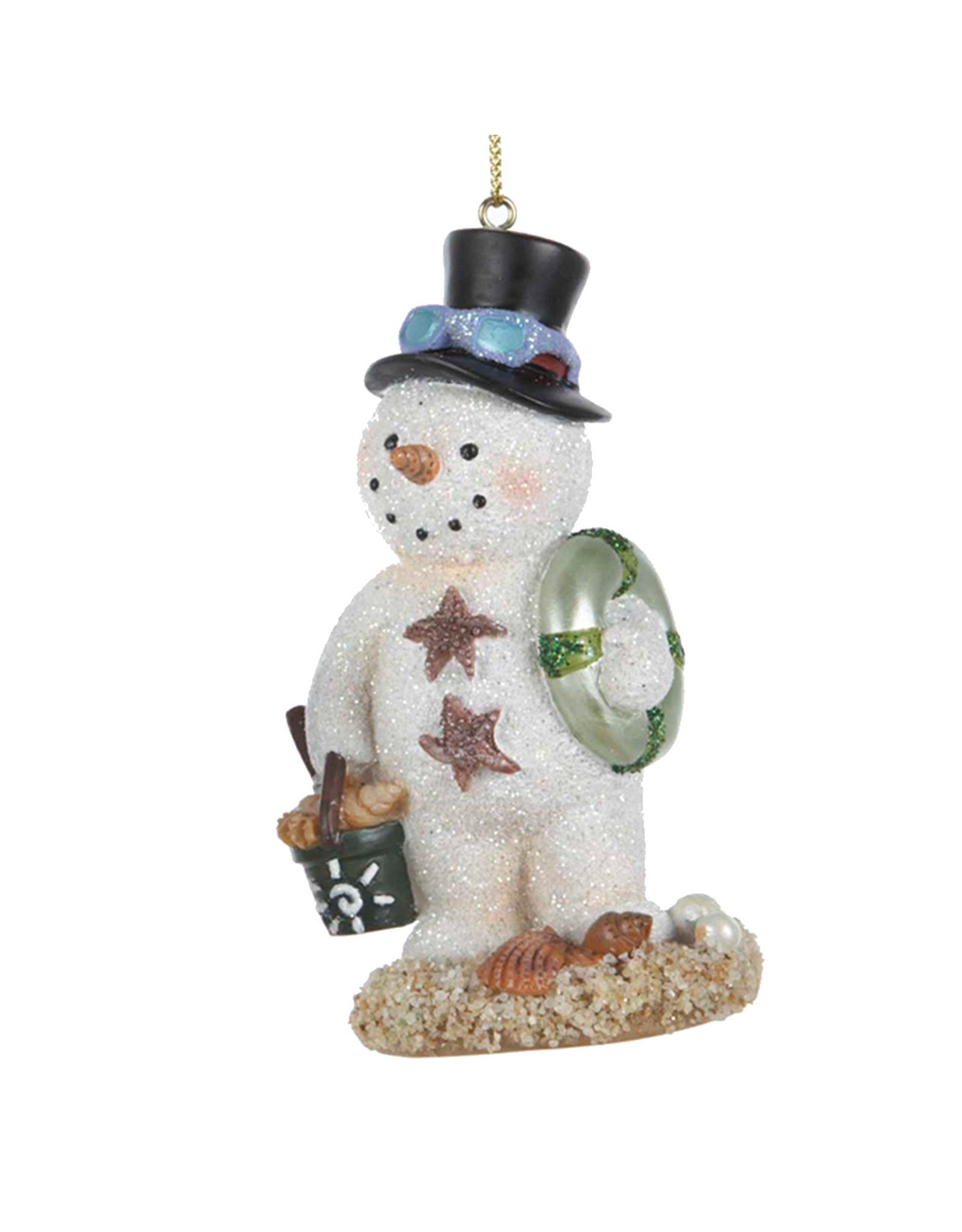 Kurt Adler Beach Snowman Ornament Snow-MAN Christmas Ornament