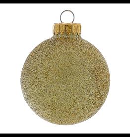 Kurt Adler Gold Glitter Glass Ball Christmas Ornament 80mm Set of 4