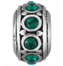 Chamilia May Emerald Birthstone Charm Silver Bead I-29